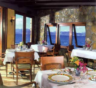 Dining at the Peter Island Resort in the British Virgin Islands